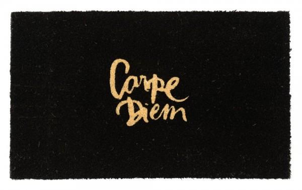"""Fußmatte schwarz """"Carpe Diem"""" aus Kokos"""