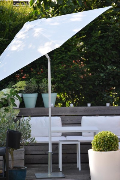 Sonnenschirm Bari weiß, Ø250 Ausstellungsstück