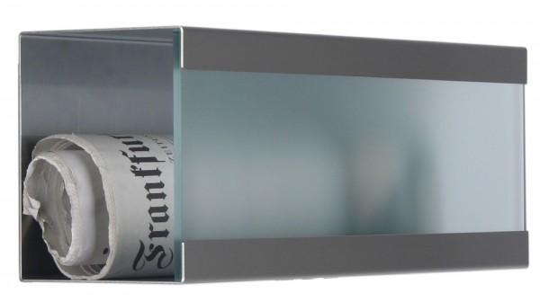 Zeitungsbox für Glasnost Briefkasten Klassiker Glas.360