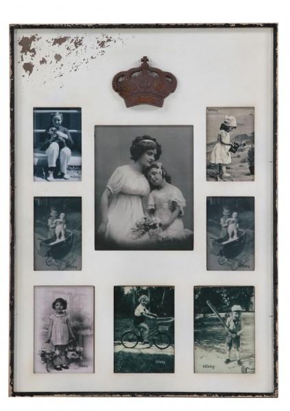 Bilderrahmen Vintage für 8 Fotos
