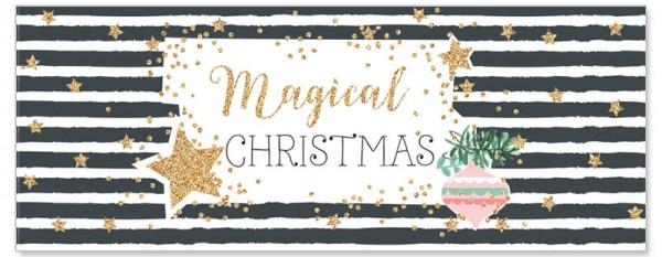 Weihnachtskarte - Magical Christmas gold/schwarz