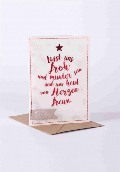 Weihnachtskarte - Froh und Munter