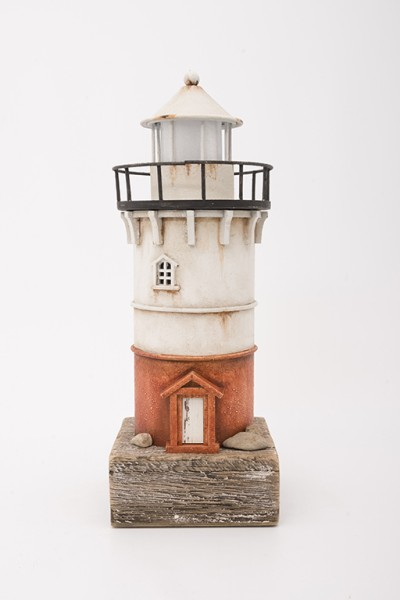 Deko Leuchtturm mit LED 28cm