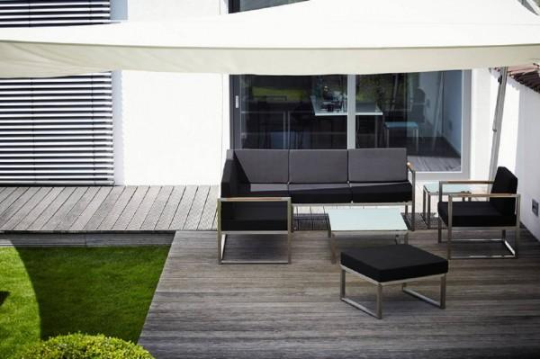 Outdoor Anbauelement Lux Lounge schwarz