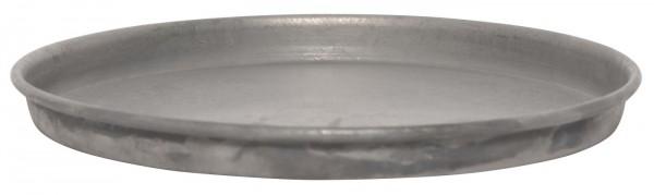 Rundes Dekotablett aus Metall, Ø 16 cm