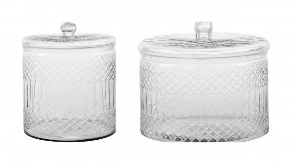 Venezia - Glasgefäß mit Deckel