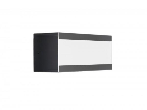 Zeitungsbox für Glasnost Briefkasten Edelstahl lackiert Weiß