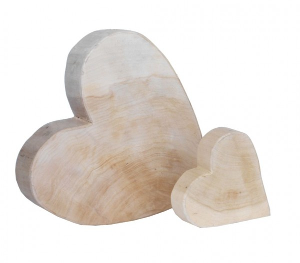 Holz-Herz Pappel natur
