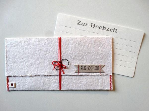Papier Post. Zur Hochzeit.
