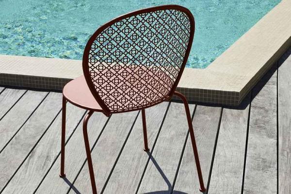 Lorette Gartenstuhl aus Stahl