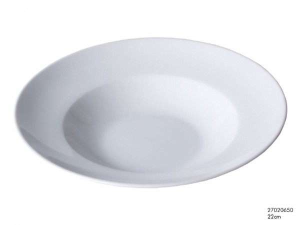 Pastateller - weiß, 22 cm