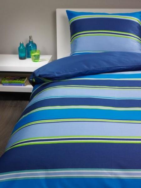 Bassetti Satin Bettwasche Garnitur Brio Blau Grun 2 Tlg