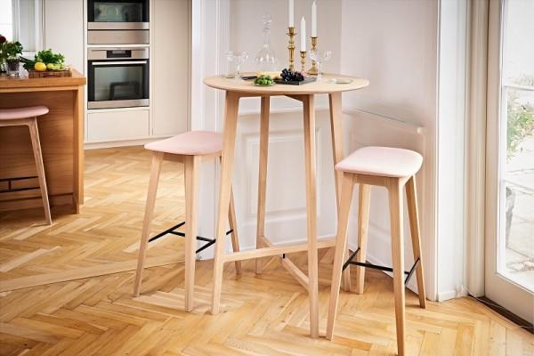 Nordic Barhocker – Eiche – gepolstert – (73cm)
