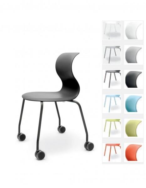 Pro 6 Stuhl mit Rollen