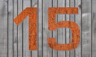 Hausnummer Stahl/Rost (24 cm)
