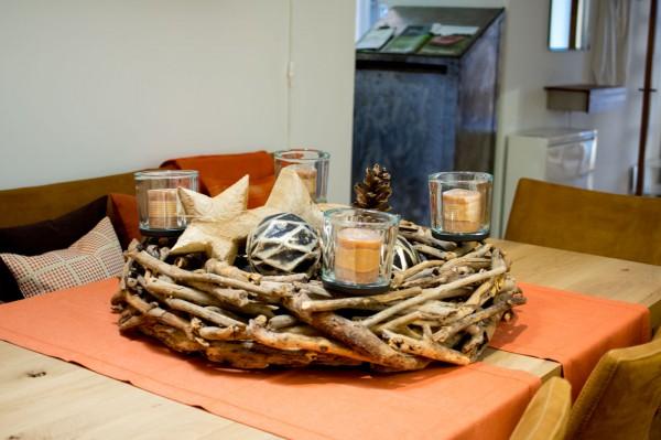 Komplettset Adventstkranz Treibholz
