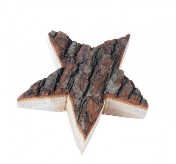 Holz-Stern mit Rinde
