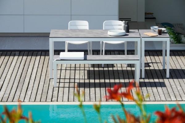 Outdoor Tisch Quadrat Hpl-Schichtstoff zementoptik