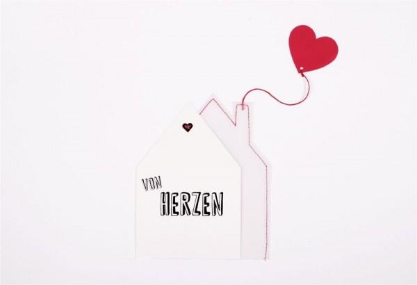 Hauspost Karte - Herz
