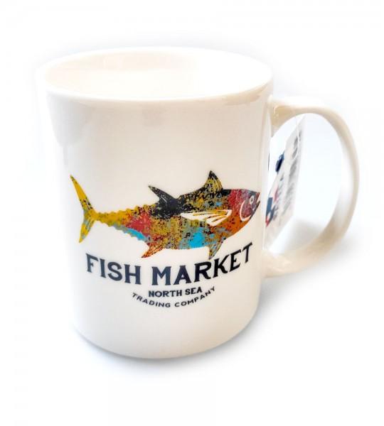 Tasse mit buntem Thunfisch - Anglertasse