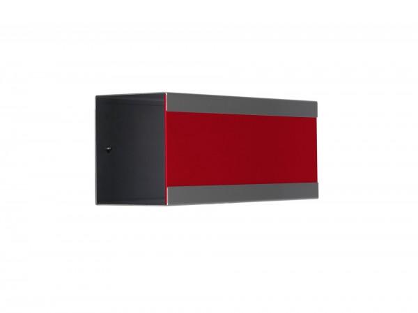 Zeitungsbox für Glasnost Briefkasten Edelstahl lackiert Rot