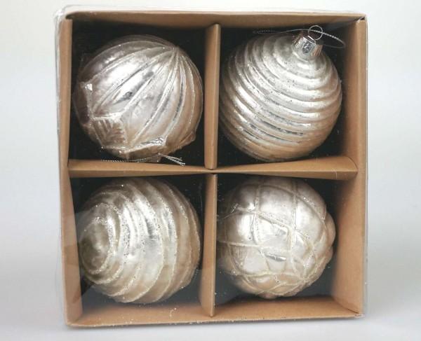 Glaskugel weiß Ø 8 cm