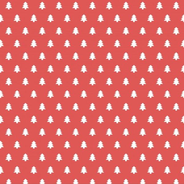 Weihnachtsservietten Tannen rot 33 x 33 cm