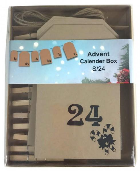 Papier-Adventskalender in Box