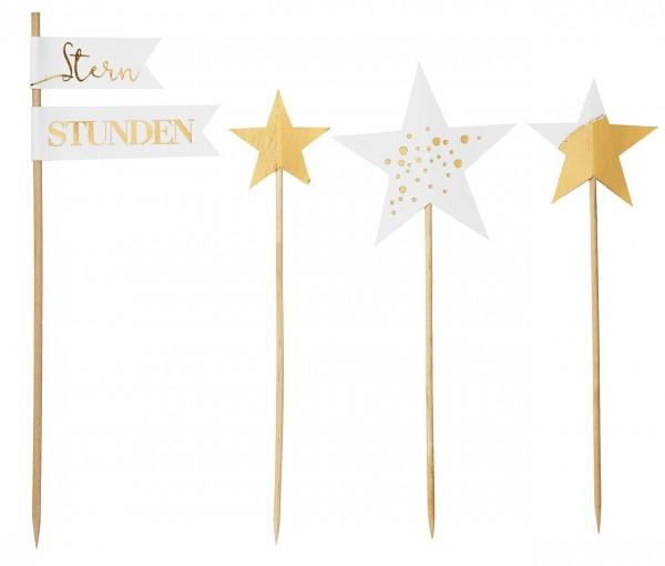Winterspieße Sterne Höhe 18 cm