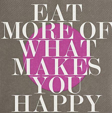 PET Serviette 33x33cm - Eat more of what makes you happy