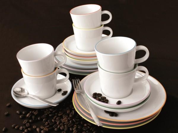Cucina Basic Colori - Kaffee Set 18tlg. mit Geschenkverpackung