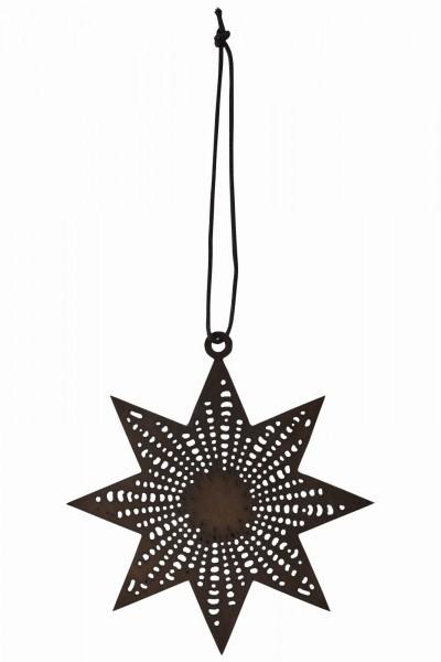 Stern flach schwarz Ø 12 cm