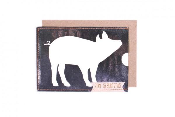 """Scheinchen Schweinchen Karte """"Geburtstag"""""""