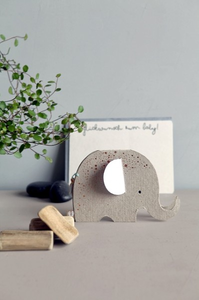 Elefanten Baby Karte. Hallo kleines Baby