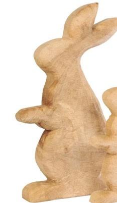 Holz-Hase Anatol sägerau 60cm