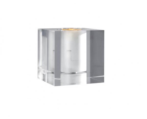Tischleuchte Cubic E27 Acryl