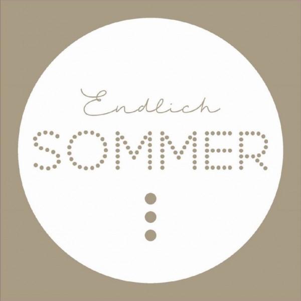 Serviette 25x25 cm - Endlich Sommer