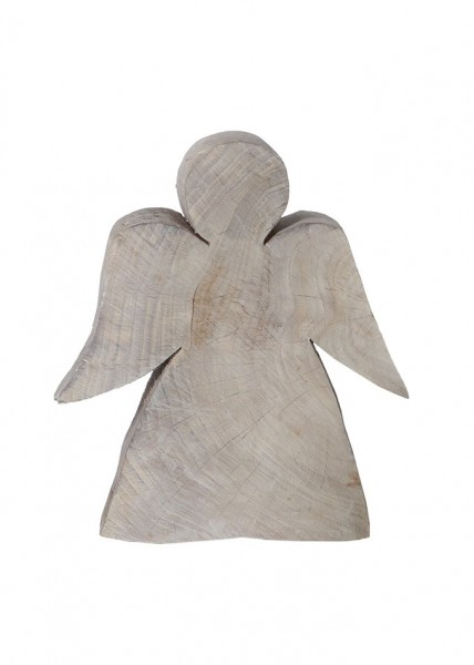Holzengel Natalia grau aus Pappelholz, Höhe 25 cm