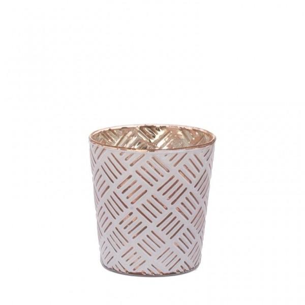Stripes - Teelichthalter Kupfer 9 cm