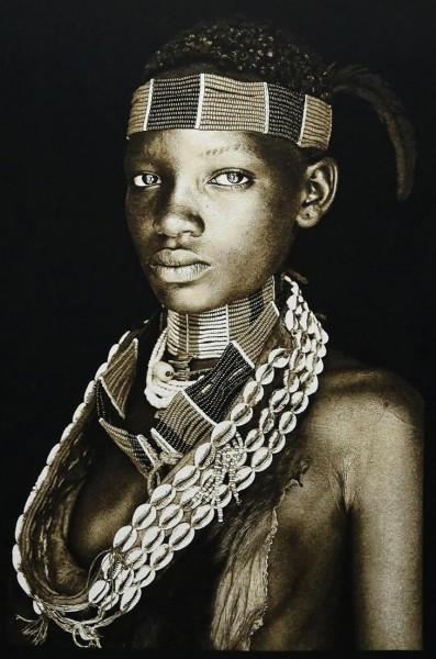 Gobelin Bild - Nyame Ruwa - Sepia