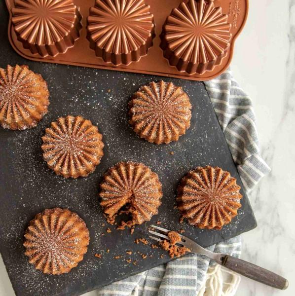 Backform Ruffled Medallion Dessert Mold Mini-Kuchen 0,7 Liter