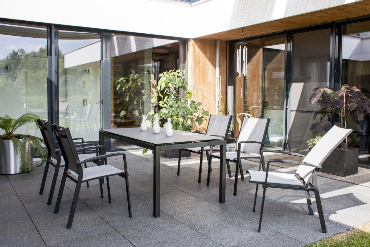Stern-Möbel Garten-Möbel Set mit Esstisch Granit ...