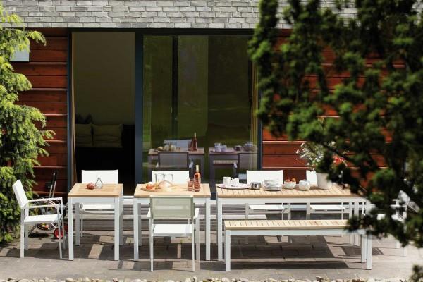 Outdoor Tisch Quadrat Teak