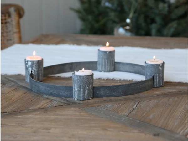Advent Kerzenhalter antik + Teelichthalter