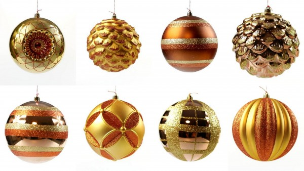 Weihnachtskugeln Ø 12 cm Gold