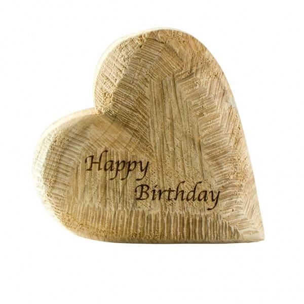 """Holzherz """"Happy Birthday"""""""