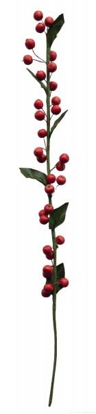 Apfelzweig mit Blättern - Deko rot