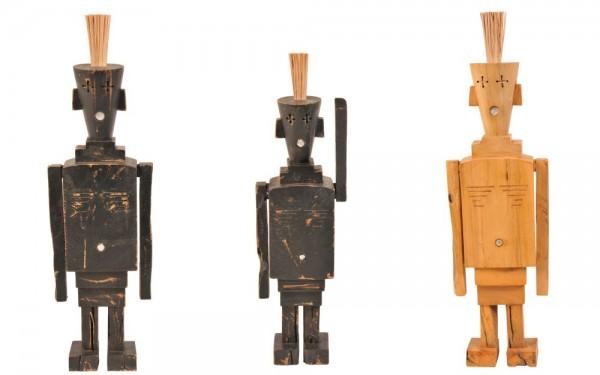 Dekofigur aus Holz Pinselkopf