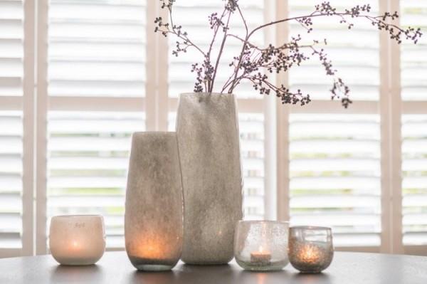 Vase Pot - H18, D20 cm - oldrose