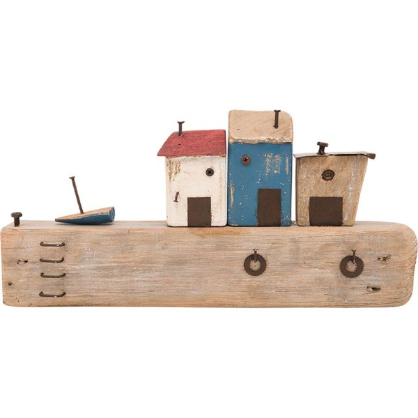 Schlüssellbrett mit Häuser - Länge 40 cm